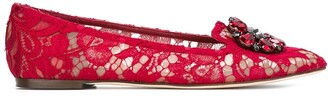Dolce & Gabbana Vally Taormina lace ballerina shoes