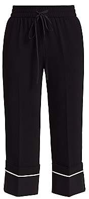 RED Valentino Women's Piping Crop Pants
