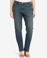 Lauren Ralph Lauren Plus Size Stretch Straight-Leg Jeans, Harbor Wash