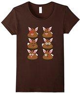 Kids FUNNY EASTER POOP EMOJI T-SHIRT Easter Bunny 12