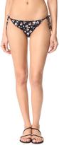 Stella McCartney Grungy Flower Tie Side Bikini Bottoms