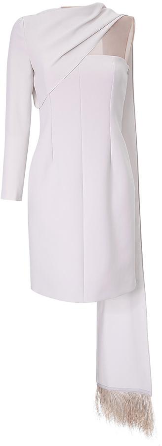 Marios Schwab Asymmetric Sleeve Cocktail Dress