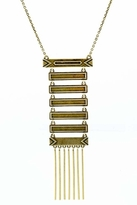 House Of Harlow Antiqued Totem Pole Necklace in Yellow Gold