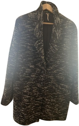 Free People Black Polyester Coats