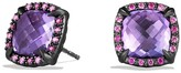 David Yurman Ch'telaine Earrings with Amethyst and Pink Sapphire