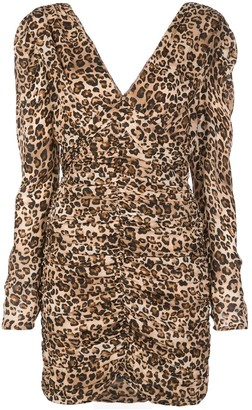 Nicholas Leopard-Print Short Dress
