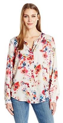 Karen Kane Women's Button-up Shirttail Blouse
