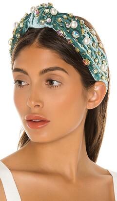 Lele Sadoughi Oversized Pearl & Crystal Headband