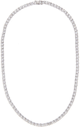 Genevive Plated Cz Tennis Necklace