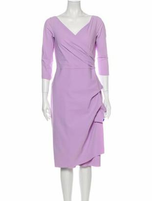 Chiara Boni V-Neck Knee-Length Dress Purple