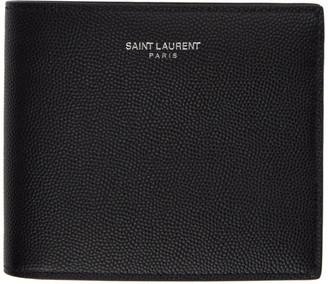 Saint Laurent Black Removable Panel Wallet