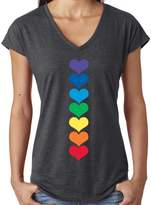Yoga Clothing For You Ladies CHAKRA HEARTS V-neck Tee, XL