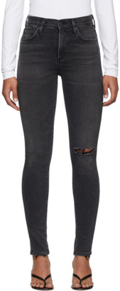 Citizens of Humanity Black Rocket Mid-Rise Skinny Jeans