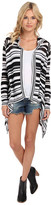 BCBGeneration Stripe Hooded Cardi Wrap NGC4H991