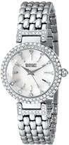 Badgley Mischka Woman's BA/1345WMSB Swarovski Crystal-Accented Watch with Silver-Tone Bracelet