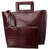 French Connection Corey Croc-embossed Leather Tote.