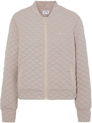 The Upside Jagger Quilted Jersey Bomber Jacket