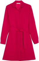 Maje Belted Crepe Mini Dress - Fuchsia