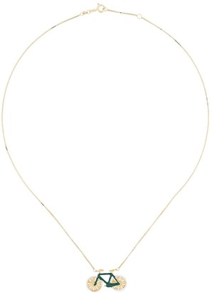ALIITA 9kt yellow gold Bici necklace