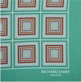 Richard James Rope Tile Silk Pocket Square
