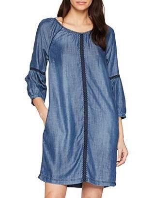 Cecil Women's 140978 Dress, (Mid Blue Used Wash 10320), M