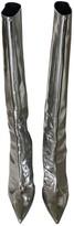 Balenciaga Silver Leather Boots