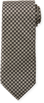 Tom Ford 8cm Large Houndstooth Tie, Gray