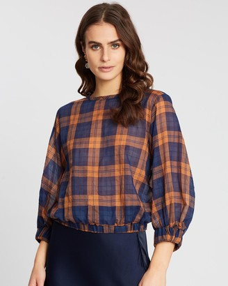 Apartment Clothing Check Full Sleeve Blouse