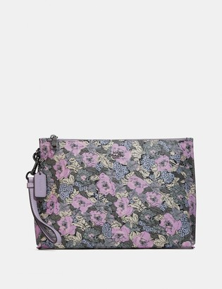 Coach Charlie Pouch With Heritage Floral Print