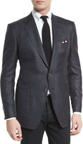 Tom Ford O'Connor Tattersall Silk-Blend Sport Jacket, Navy
