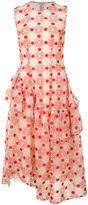 Simone Rocha ruffle trim patterned dress - women - Polyester/Acetate/Viscose - 6