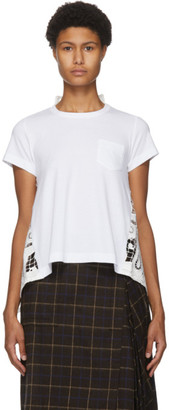 Sacai White Lace Paisley Back T-Shirt