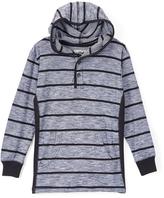 Smiths American Teal Blue Stripe Long-Sleeve Hoodie - Toddler & Boys