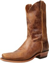 "Justin Boots Men's U.S.A. Bent Rail Collection 11"" Boot Narrow Square Top Ridge Toe Leather Outsole"