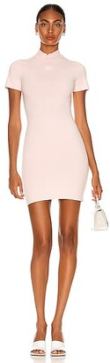 alexanderwang.t Crewneck Logo Tee Dress in Pink