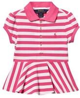 Ralph Lauren Pink and White Stripe Pique Top