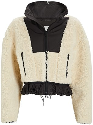 3.1 Phillip Lim Cropped Bonded Teddy Jacket
