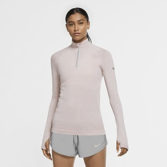 Nike Women's 1/2-Zip Wool Running Top Run Division