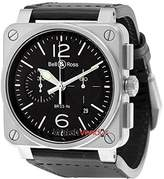 Bell & Ross Bell and Ross Aviation Automatic Leather Men's Watch BR0394-BL-SI/SCA