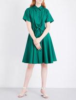 Diane von Furstenberg Knot-waist cotton-poplin shirt dress