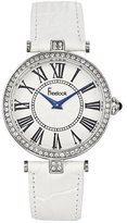 Freelook Women's HA1025-9 Vendome Stainless Steel Case White Dial Leather Band Watch