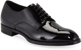 Giorgio Armani Men's Formal Patent Leather Derby Shoe