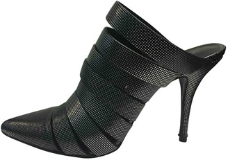 Alexander Wang Anthracite Leather Sandals