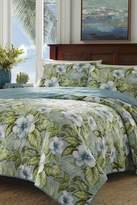 Tommy Bahama Alba Botanical Twin Quilt & Sham 2-Piece Set - Blue