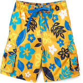 Kanu Surf Orange Revival Floral Boardshorts - Toddler & Boys