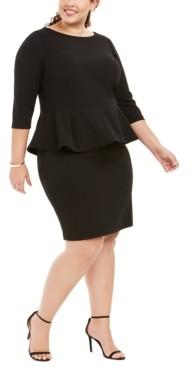 Calvin Klein Size Peplum Sheath Dress