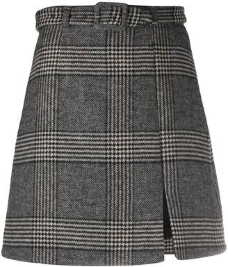 ALEXACHUNG Whatever check mini skirt