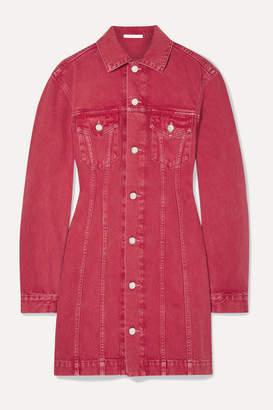 Helmut Lang Denim Mini Dress - Red