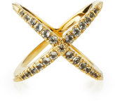 Elizabeth and James Windrose Pave White Topaz Ring