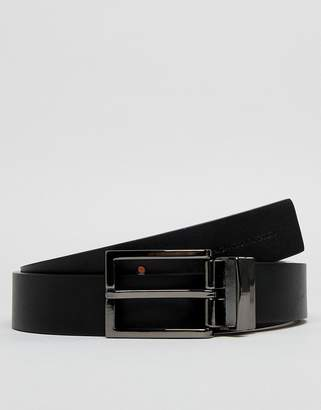 French Connection Leather Belt-Black